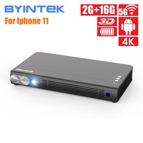 BYINTEK UFO P12 300inch Smart 3D WIFI Android Pico Pocket HD Portable Micro Mini LED DLP Projector For Iphone 11 Ipad Smartphone Pakistan