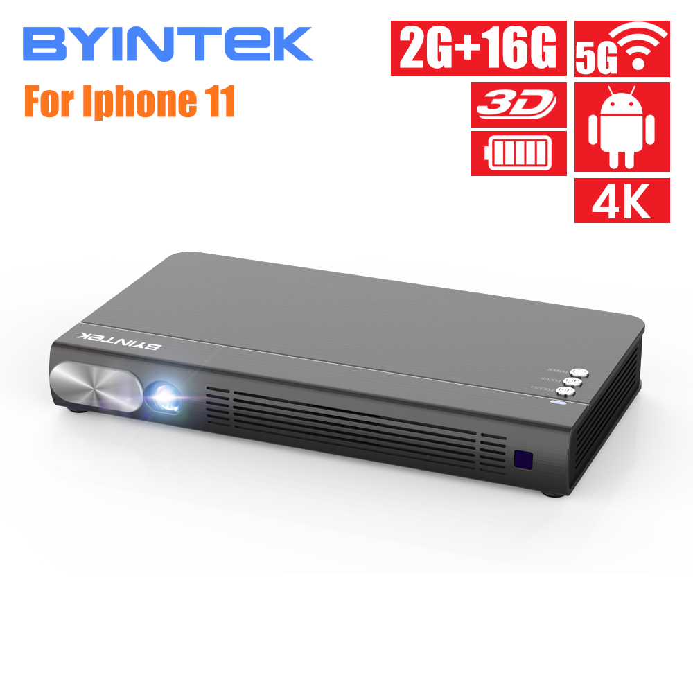 BYINTEK UFO P12 300inch Smart 3D WIFI Android Pico Pocket HD Portable Micro Mini LED DLP Projector For Iphone 11 Ipad Smartphone