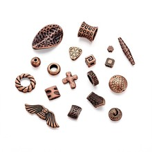 500g Mixed Shapes Red Copper Alloy Finding Beads Bead Spacer