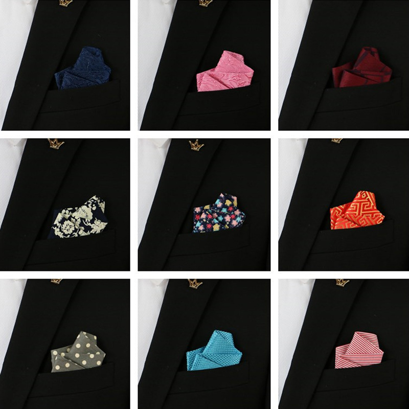 Finished In-line Business Men's High-quality Polyester Silk Pocket Towel Shirt Handkerchief Towel Is Decorated With Accessories