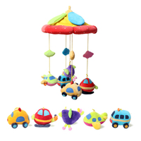 0 36 Month Baby Toys Crib Pendant Toy Bed Bell Plush Fabric Hanging Bed Bell Baby Bedside Bell Music Rotating Rattle Childen Toy