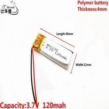 (Envío gratis) batería de litio polímero 3,7 V, 401230 041230 se puede personalizar al por mayor certificación de calidad CE FCC ROHS MSDS