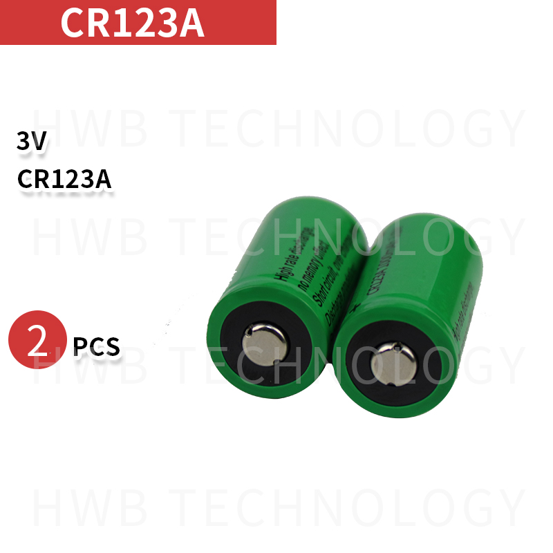 2x <font><b>17335</b></font> 3.0V 1000mAh Rechargeable CR123A Batteries Free Shipping image