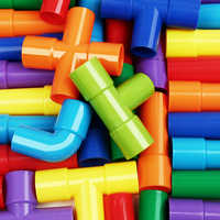 DIY Water Pipe Building Blocks Toys Enlightening Pipeline Tunnel Learning Toys For Children Brick