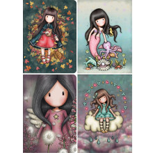Santoro5D diamante pittura cartone animato ragazza fai da te punto croce diamante pieno ricamo mosaico wall sticker decorazione