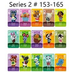Serie 2 (153-165) animal Crossing Kaart Amiibo Sloten Nfc Kaart Werken Voor Schakelaar Ns 3DS Games Series 2 (153-165)