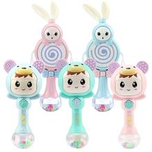 1Pcs Baby Rattles 0-12 Monther Plastic Music Educational Toys For  Soft Hand Shaker Newborn Mobile Dropship