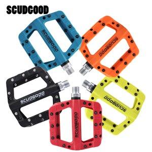 Image 1 - Scudgood自転車ペダルナイロン炭素繊維超軽量ワイドベアリングペダルフラットプラットフォームペダルmtbロードバイクペダル自転車部品