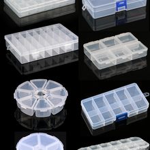 Jewelry-Box Container Case Beads Compartment Plastic Storage Adjustable for 9-Sizes