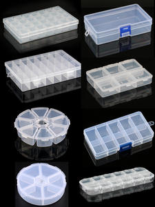Jewelry-Box Container Case Beads Compartment Plastic Storage for Rectangle-Box 9-Sizes