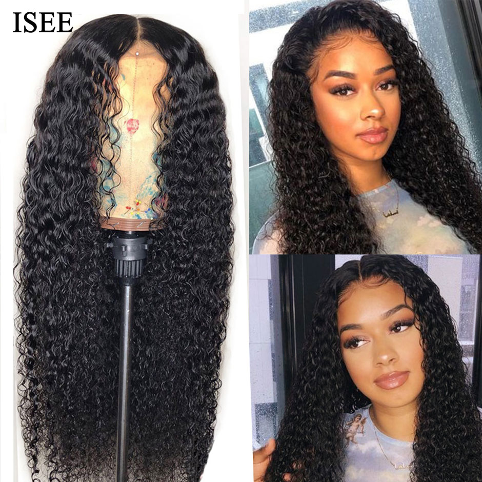 Kinky Curly Wigs For Women Malaysian Lace Closure Human Hair Wigs ISEE HAIR U Part Wigs Kinky Curly Lace Front Human Hair Wigs