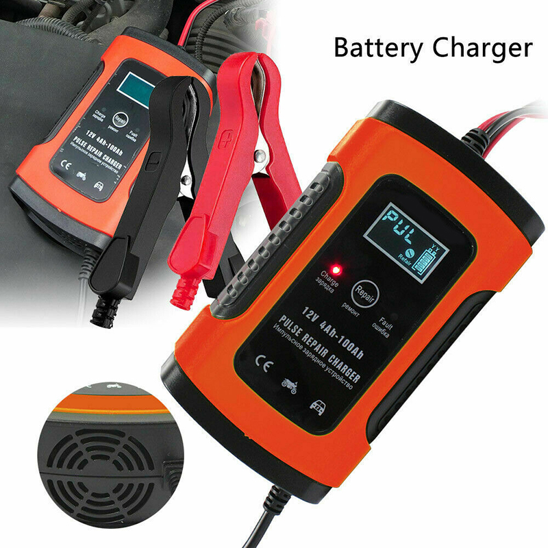 12V 5A LCD Motorrad Auto Lead Säure Storage Charger Pulse Repair Battery Charger