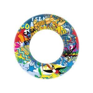 Anillo de natación inflable 60 # para adultos, juguete flotador circular para playa, Fiesta en el mar, fruta, verano, piscina