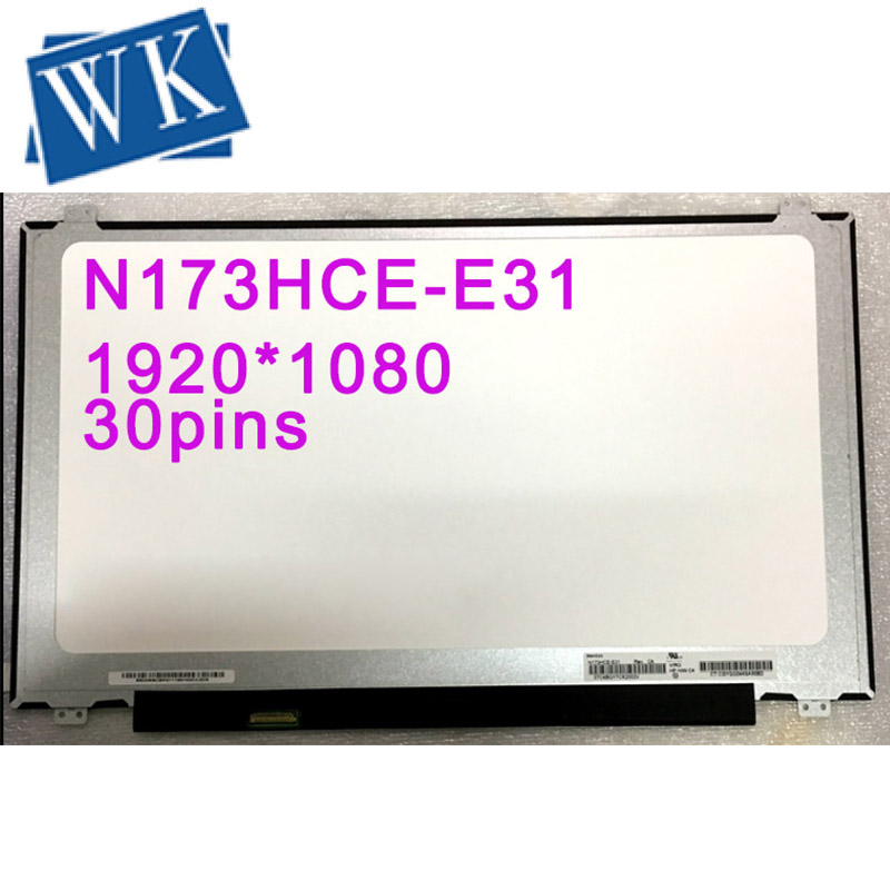 Free Shipping N173HCE-E31 LTN173HL01-401 LP173WF4-SPF1 B173HAN01.0 B173HAN01 Laptop Lcd Screen 17.3inch Led Display IPS Panel