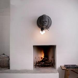 Image 3 - מודרני גורילה שרף קיר מנורות נורדי Led פמוט קיר מטבח אור בית לופט תעשייתי דקור קיר בציר Luminaire E27 * 3