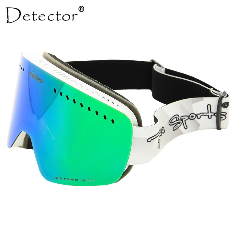 Detector Kids Ski Goggles Children Double Lens UV400 Anti-fog Mask Snow Glasses Skiing Girls Boys Skateboard Snowboard Goggles