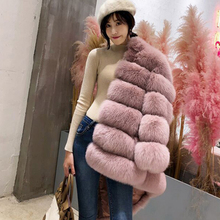 Real Fur Cropped Maternity Wear Winter Coat Warm Luxury Faux Women with