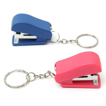 1PCS Mini Keychain Stapler For Home Office School Paper Bookbinding Gift(China)