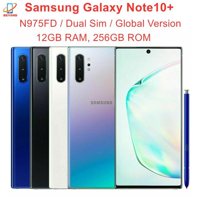 "Samsung Galaxy Note 10 Plus Note10+ Duos N975FD Dual Sim Global Version 12GB 256GB 6.8"" Exynos 4G LTE Original Cell Phone 1"