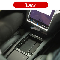 With Wireless Charging Storage Box Car Interior Accessories Black Tray Center Console Neatly Armrest Organizer For Tesla Model 3