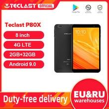 8 polegada tablet teclast p80x android 9.0 4g phablet sc9863a octa núcleo 1280x800 ips 2gb ram 32gb rom tablet pc gps câmeras duplas