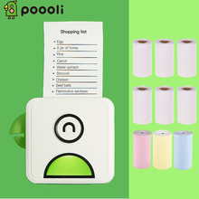 Poooli L1 Label Printer Pocket Thermal Photo Printer Portable BT Wireless Receipt Label Sticker Maker for Android iOS Smartphone