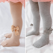 Pantyhose Tights Newborn-Baby Baby-Girl Winter Cotton Soft Autumn Solid Bows Cute