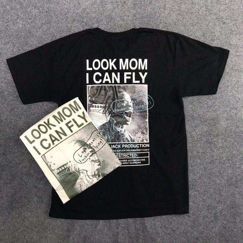20ss Travis Scott T-shirt Look Mom i Can Fly Custom Men Women 1:1 Best-Quality ASTROWORLD Top Tees hip hop ASTROWORLD T-shirt(China)