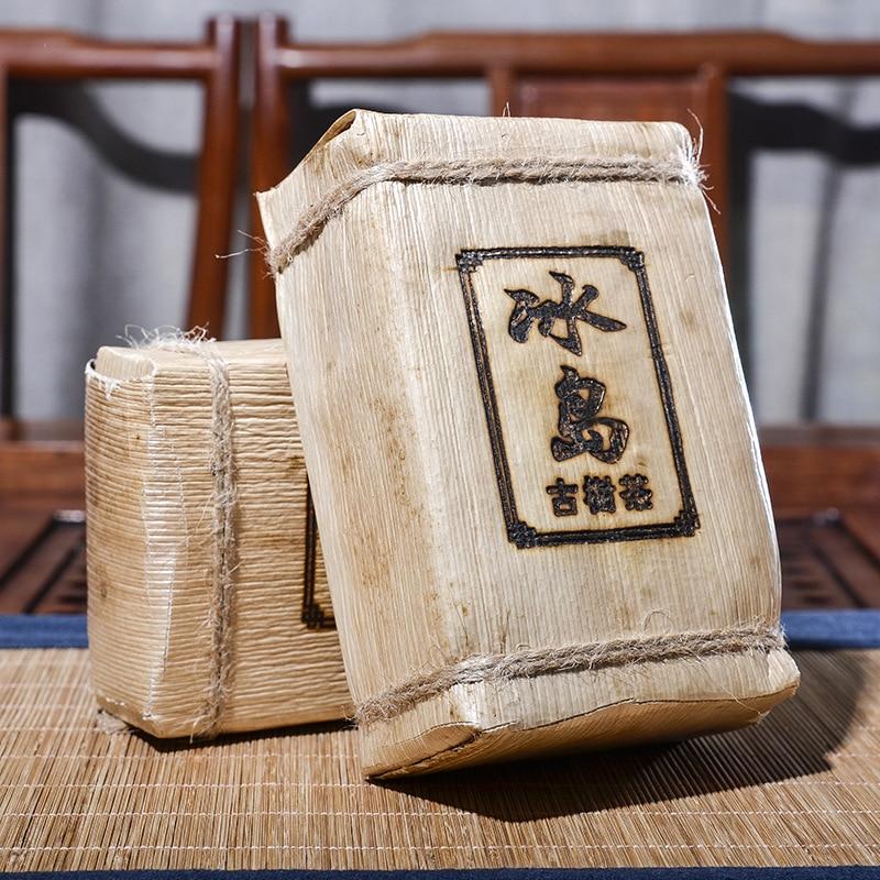 500g Old Pu'er Tea Chinese 2017 Year Aged Pu-erh Yunnan Ripe Pu-erh Tea Brick For Health Care Lose Weight Tea