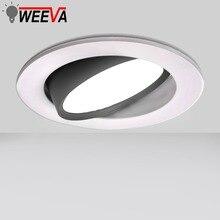 Светодиодный точечный светильникled COB встраиваемый круглый потолочный светильник 12 Вт 9 Вт 7 Вт 5 Вт 3 Вт Спальня Кухня Крытый Регулируемый светодиодный точечные светильники 220V 110V