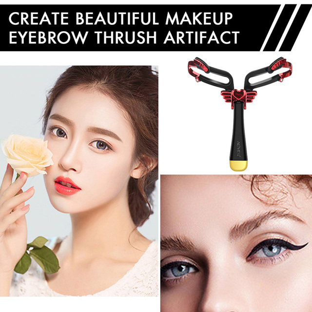 Drawing Handheld Tool Adjustable Eyebrow Shapes Stencil Portable Folding Stereo Home For Beginners 3 In 1 DIY Makeup Model Girl 2