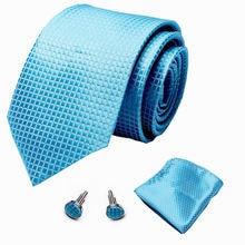 Мужские галстуки блестящие Синие Клетчатые цветочные шелковые