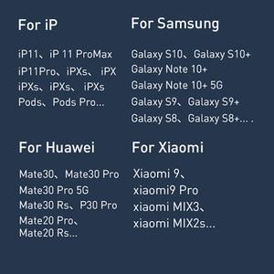 Image 5 - Baseus 2 in1 אלחוטי מטען מהיר טעינה עבור iPhone 11 Airpods 15W Qi מטען מהיר עבור שיאו mi אדום mi סמסונג Huawei Mate 30