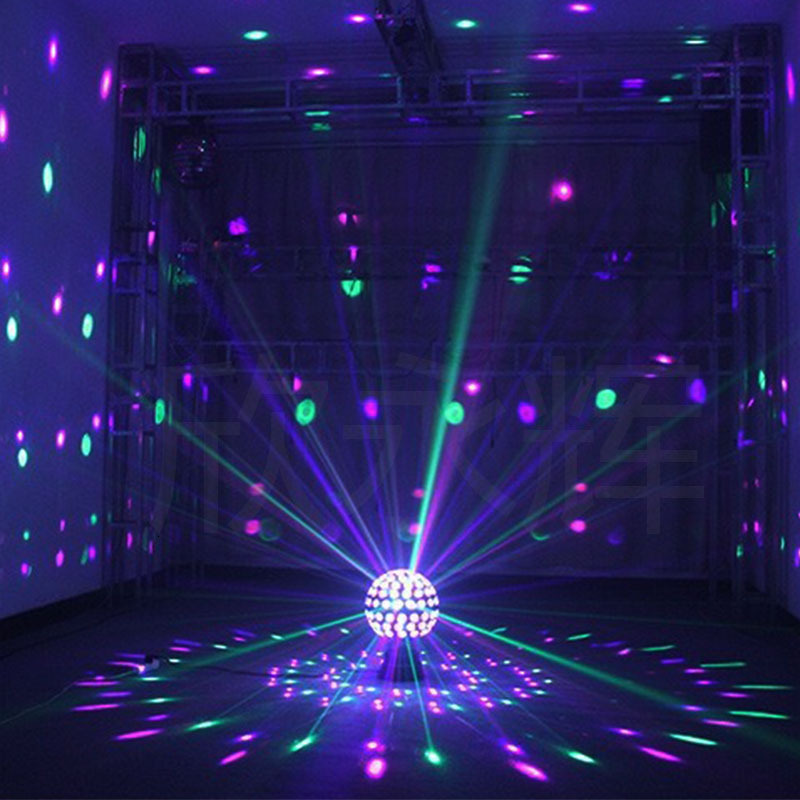 Led Party Lights Magic Ball Lamp Karaoke Room Bar Colorful Rotating Sound Control Stage Lighting