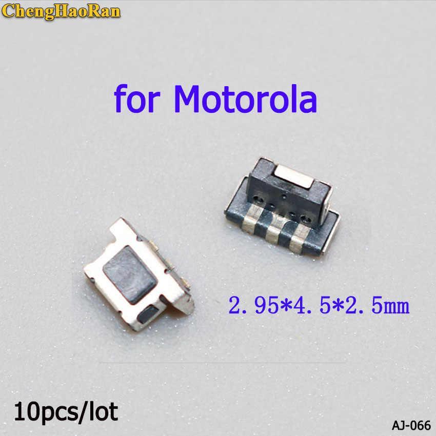 ChengHaoRan para Motorola 2,95*4,5*2,5mm interruptor de lavabo botón de lanzamiento PTT interruptor estéreo 10