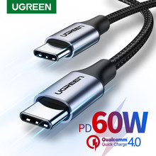Ugreen USB C to USB Type C for Samsung S20 PD 60W Cable for MacBook Pro iPad Pro2020 Quick Charge 4.0 USB-C Fast USB Charge Cord(China)