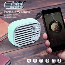 Mini altavoz portátil Vintage inalámbrico Bluetooth 5,0 para PC Teléfono manos libres con Radio FM/Aux/USB/tarjeta TF/micrófono