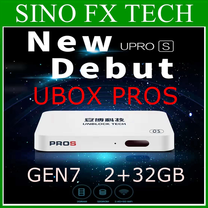 hot sell for Canada UBOX7 UBOX PROS 2GB 32GB TV Box Korea Japan SG NZ MY CA US UBOX GEN7 pk Evpad plus