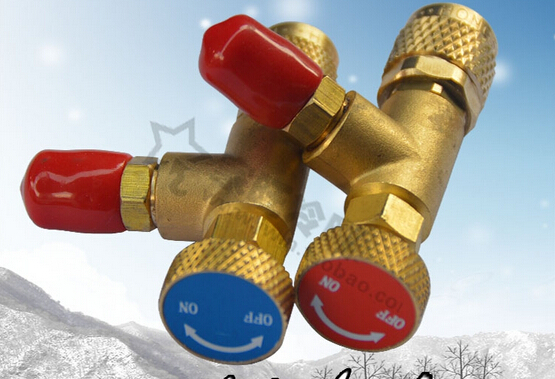R410 Refrigeration Charging Safety Adapter Ball Valve 1/4