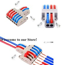 цена SPL-62 New Wire Wiring Universal Compact Connector 8PINS Conductor Terminal Block With Lever AWG 28-12 онлайн в 2017 году