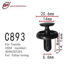 Foliar Lining Buckle Fastener For Toyota S9046707201 Foliar Lining Screw