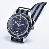 41mm corgeut men's watches Luminous blue dial Nylon strap clock Sapphire glass Military Automatic mechanical men's watch D16