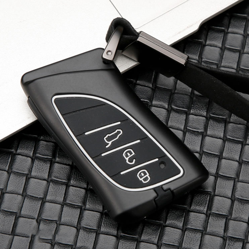 New hot sale Zinc alloy+Silicone car key case cover keychain For <font><b>Lexus</b></font> 2018 <font><b>2019</b></font> IS ES GS LS500h NX <font><b>RX</b></font> LX LC RC Remote keyless image