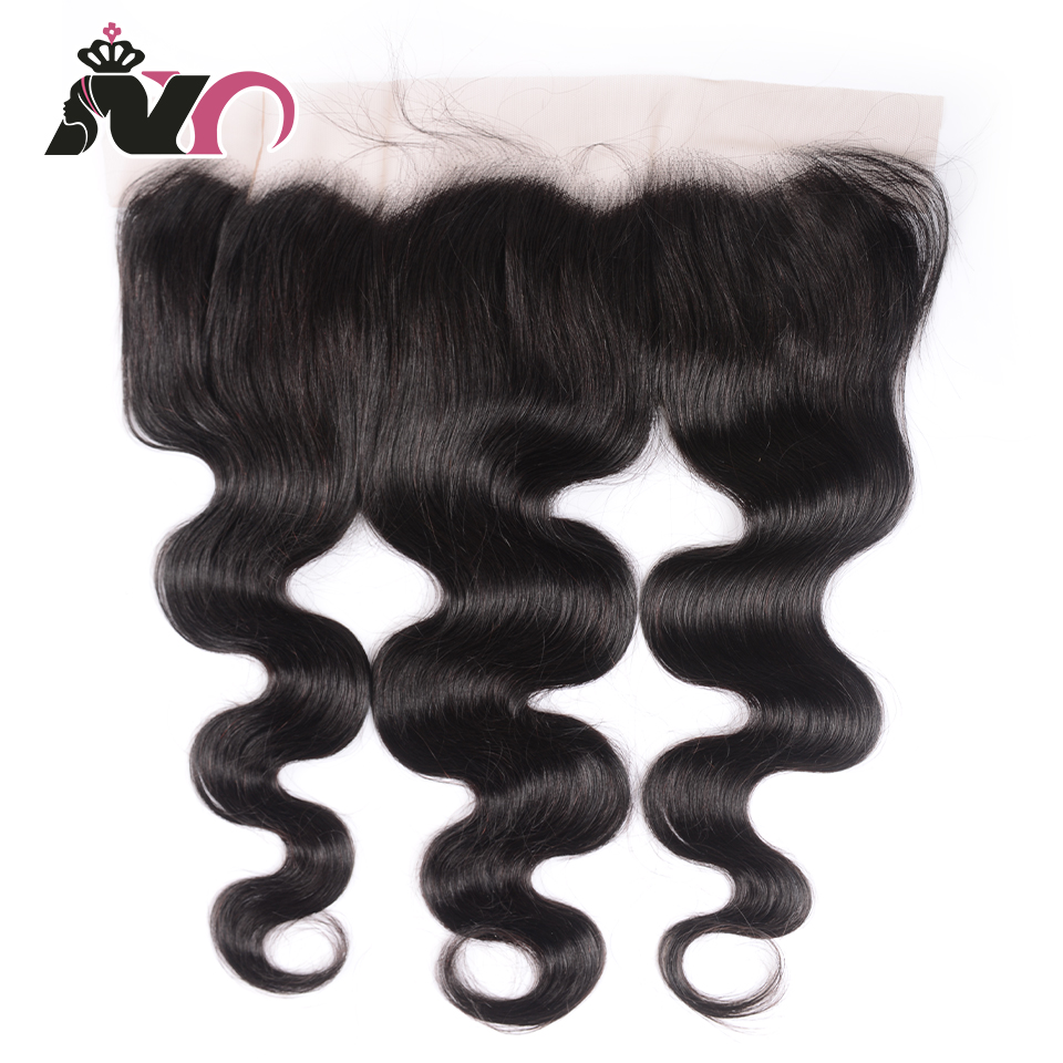 NY Hair Body Wave Malaysia Frontal Non-Remy Free Part Medium Brow Lace Human Hair Frontal 8-20 Inch 13*4 Natural Color Closure