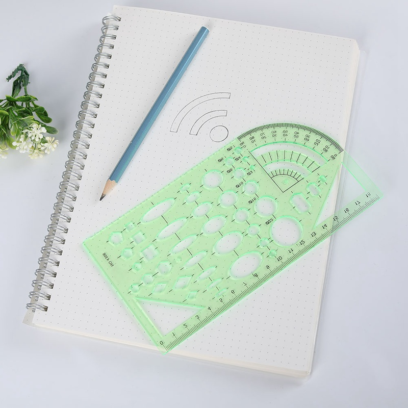 Students Ruler Drawing Board 1pcs Transparent Oval Professional Design Plastic Drawing Template