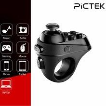 Pictek kablosuz oyun Gamepad Bluetooth parmak oyun denetleyicisi kolu adaptörü fare Selfies desteği Android iOS sistemi