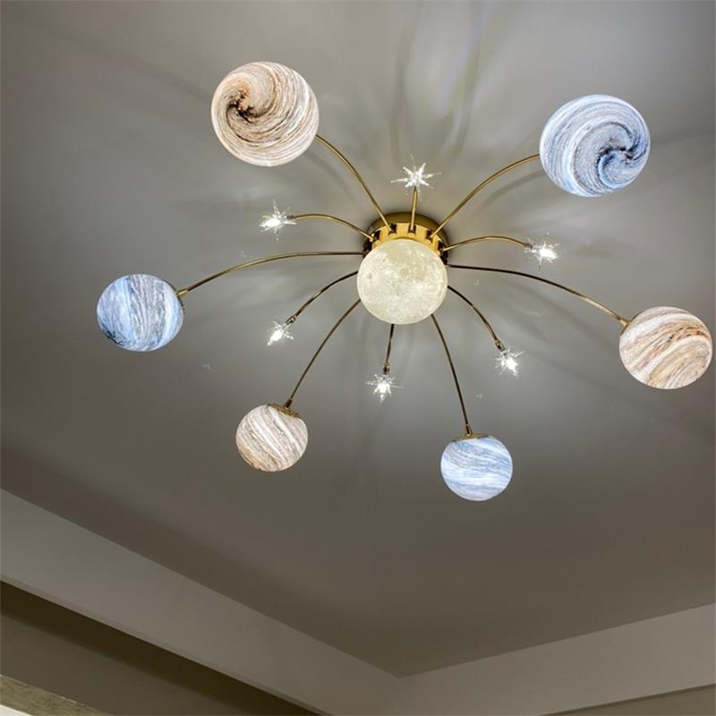 lâmpada do teto nordic personalidade criativa espaço