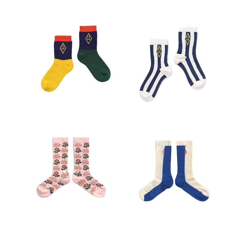 Girls Knee High Socks 2021 New TAO Brand Kids Tube Socks Fall Winter Girls Children Socks Beautiful Color Cotton Baby Boy Sock 1