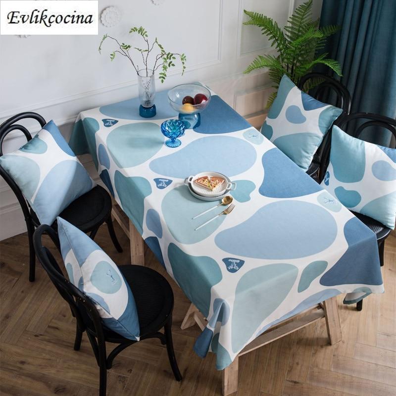 Nappe couverture De Table motif pavés bleus   Livraison gratuite
