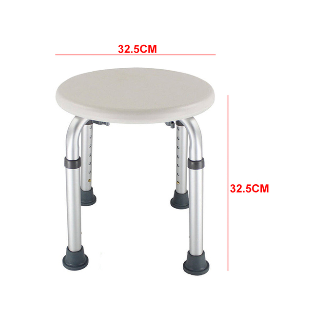 Height Adjustable Home Chair Easy Clean Round Kids Non Slip Toilet Bath Seat Shower Stool Older Pregnancy Furniture Disabled 2